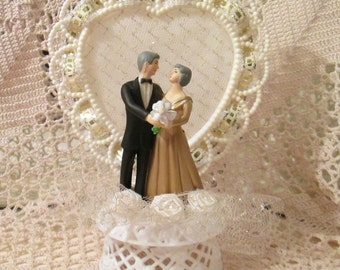 Vintage 1960's Wedding or Anniversary Cake Topper