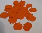 Pumpkin confetti, hand puched embellishment, party decor  (100 count)