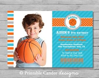 Basketball Birthday Invitation - DIY Custom Printable