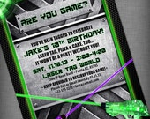Laser Tag Party Customized Printable Invitation