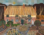 Thomas Hardy - Print - Writers' Houses -Cottage - Fine Art Print - Garden - England - Gift for Book-lovers - English Literature - Collage