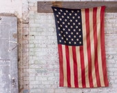 Vintage Original 50 Star American Flag