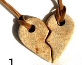 Ceramic Friendship / Love Pendants for Necklaces
