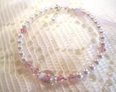 FREE SHIP SWAROVSKI Baby Girls Childrens Handmade Victorian Rose Pearl Adustable bracelet