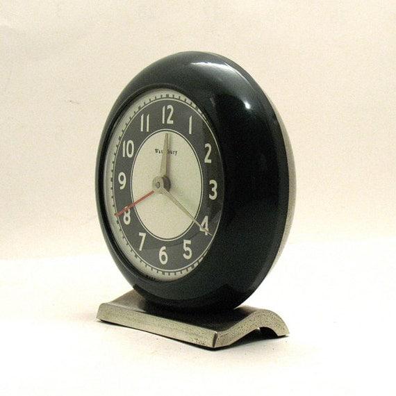 Vintage Waterbury Alarm Clock Retro Alarm Clock By