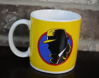 Vintage Dick Tracy Coffee Mug, Retro Coffee Mug, Throw Back, Father's Day Gift, Gifts for Him Under 10 Dollars