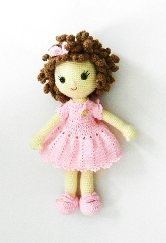 Amigurumi Ugur Bocegi Yapimi : Items similar to amigurumi doll pink baby on Etsy