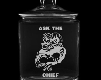 Ask The Chief 1 Gallon Cookie Jar (goat) US Navy USN cpo mcpo scpo chief naval