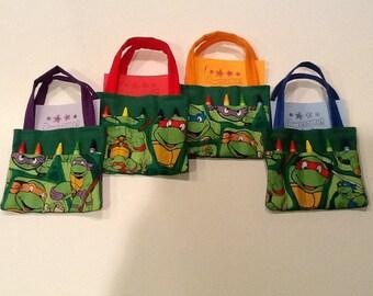 Teenage Mutant Ninja Turtles Children's Crayon Bag, Birthday Party Favor
