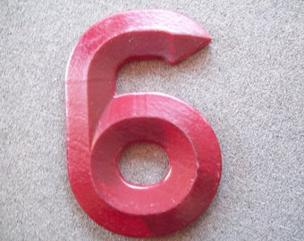 Vintage Large Number 6 or 9 Marquee Sign  Wall Hanging Textured Fiberglass Plastic