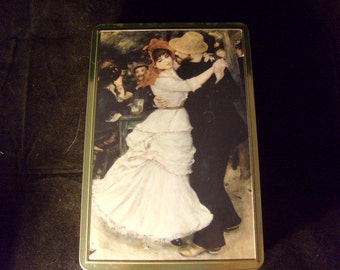 """Stollwerck Collectible Tin with Renoir """"Dance at Bougival"""""""