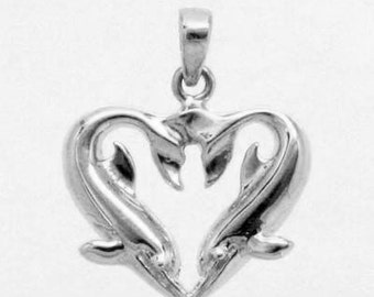 DOLPHIN CHARM in 925 Sterling Silver 9-17