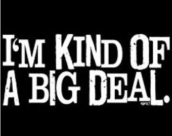 I'm Kind of a Big Deal Adult Black T-shirt New Sizes S-2X FREE SHIPPING