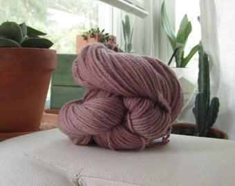 Naturally Dyed Blackberry Wool Yarn