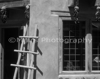 Architecture Adobe Albuquerque shopping Historic Old Town, Travel Photography, Fine Art Photography matted & signed 8x12 original photograph