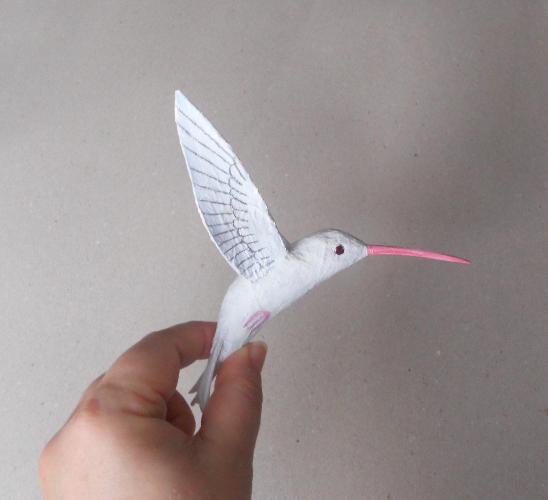 Arte colibr di carta cartapesta scultura uccello uccelli for Carta per cartapesta