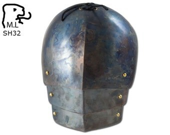 New Medieval pair of complete pauldron in stainless steel Armor Larp SH32