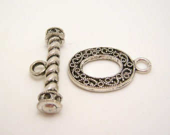 ornate toggle clasps 33mm - one clasp set