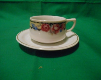 "Four (4), Porcelain Demitasse Cups and Saucers, marked ""Made In Japan""."