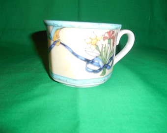 One (1), Flat Bottomed Cup, from Villeroy & Boch, in the Castellina Pattern.