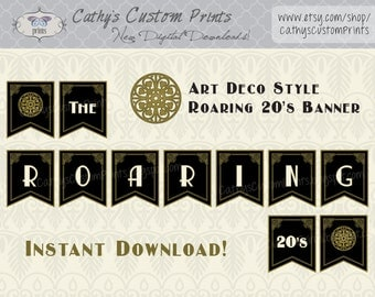The Roaring 20's Printable Banner