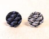 Dragon Scale Sterling Silver Lapel Pin