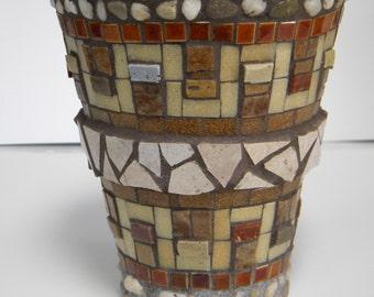 Stone Mosaic Planter
