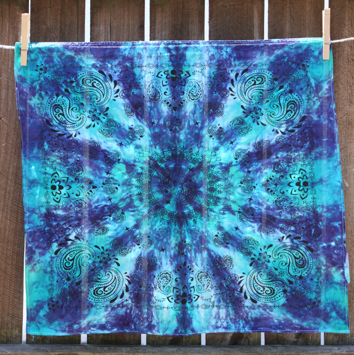 tie dye bandana purple and blue. Black Bedroom Furniture Sets. Home Design Ideas
