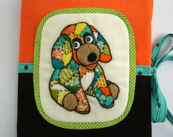 70's Patchwork Pup Journal Cover