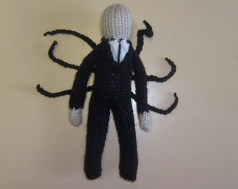 Slender Man, Hand Knitted, Toy, Plush. Monster