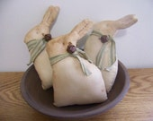 Primitive Easter Bunny Shelf Sitter Tuck Spring Decor