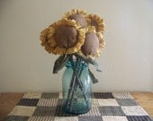 Primitive Bouquet Of Sunflowers On Sticks