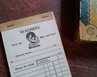 12 Vintage Wagners Haberdashery Receipts Clothing and Accessories Store for Men and Boys