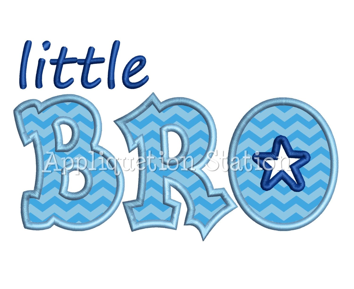 Little bro applique machine embroidery design brother