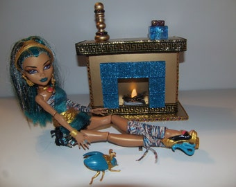 Handmade Light Up Toy Egyptian Fireplace for Monster High Dolls Cleo and Nefera!