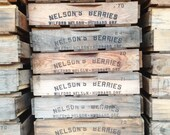 Vintage Wooden Berry Crate -- Rustic Industrial Storage Box