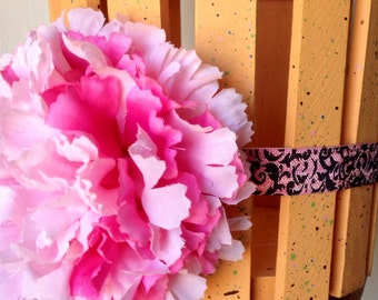 pink flower headband, Baby Headband - Flower Headband - Newborn Baby headband toddler Headband - Photography Prop,