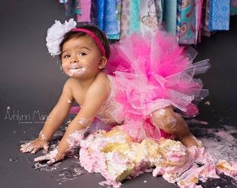 Baby tutu set, birthday tutu, tutu, tutu set, cake smash tutu, toddler tutu, 1 year birthday outfit, hot pink tutu, pink tutu set, birthday