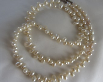 Sterling silver Pearl necklace - Wedding Necklace