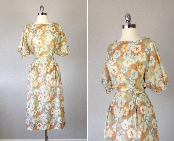 Vintage Christian Dior, Christian Dior Dress,1970s Christian Dior, Christian Dior Blouse, Christian Dior Skirt, Floral Blouse, Floral Skirt