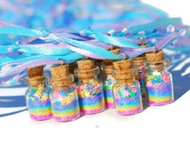 Fairy Party Favor Necklace rainbow pastel,  Pink, yellow, green, blue, purple, Princess Party Favor, FairyNecklace, Fairy