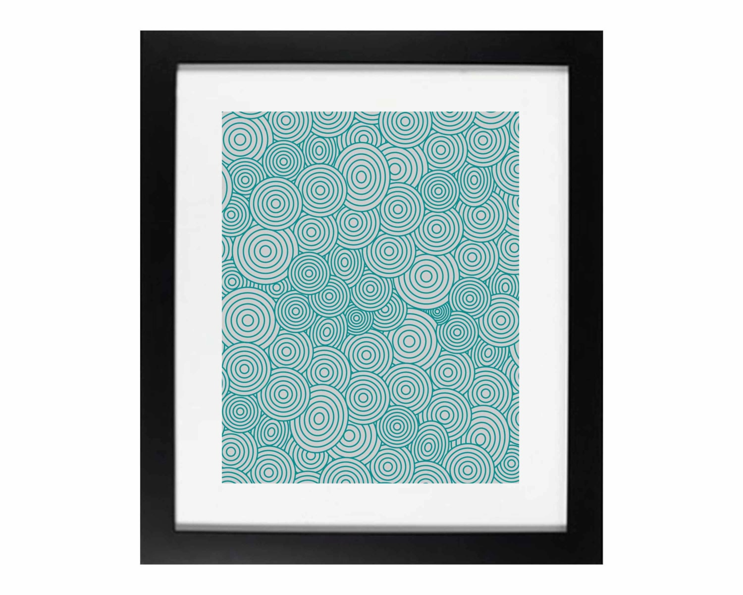 abstract cirles wall art teal on grey home decor digital. Black Bedroom Furniture Sets. Home Design Ideas