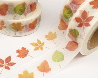 Fall Autumn Leaves  Washi Tape - 733