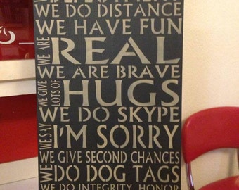 We Do Deployment Handcrafted Sign