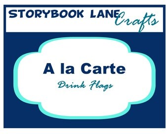 Drink Flag Printable - A la Carte Party Single