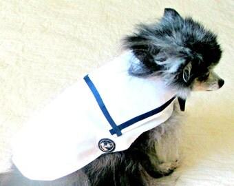 Dog Shirt, Dog Sailor Shirt, Dog Clothing, Small Dog Clothes, Small Dog Shirt, Dog Items, Pet Items, Made to Order Dog,, Dog Apparel,