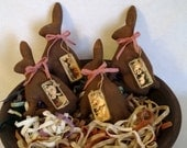 Chocolate Hares - E-Pattern - Bowl Fillers