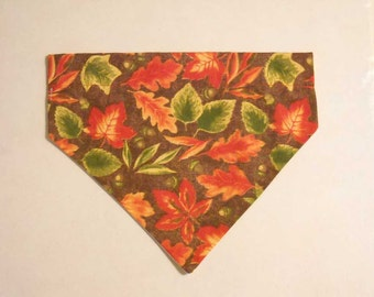 Fall Pet Bandana Leaves Small Slide On the Collar