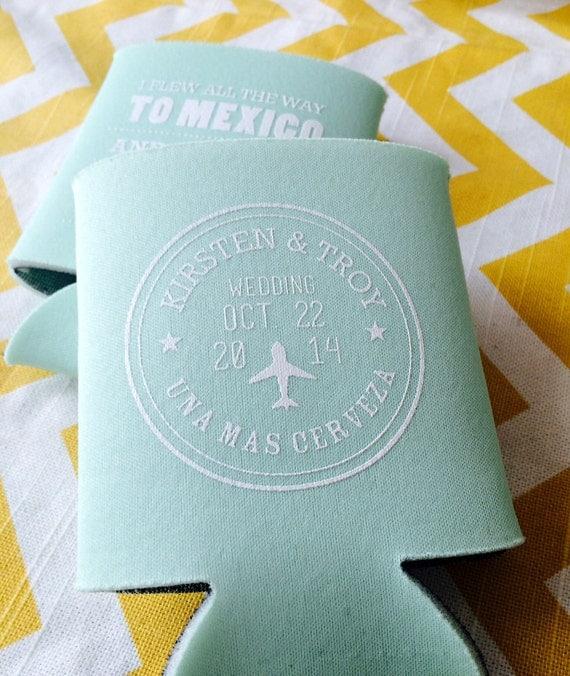Do You Buy A Gift For A Destination Wedding: Destination Wedding Can Coolers Beach Wedding By RookDesignCo