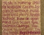 """12"""" x 12"""" hand-painted wooden panel  with quote"""